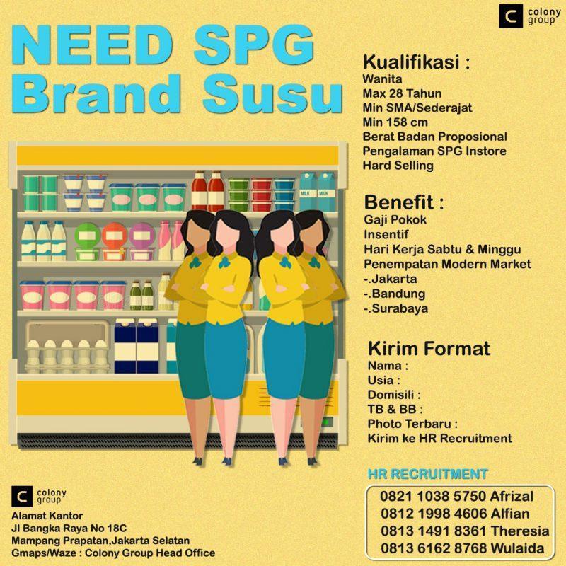 Lowongan Kerja Spg Freelance Susu Di Colony Group Jakartakerja