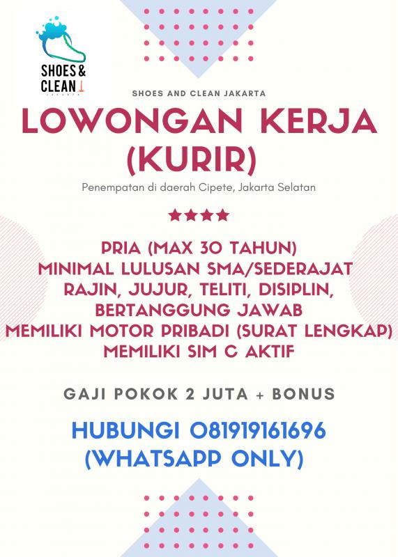 Lowongan Kerja Kurir Di Shoes And Clean Jakarta Jakartakerja