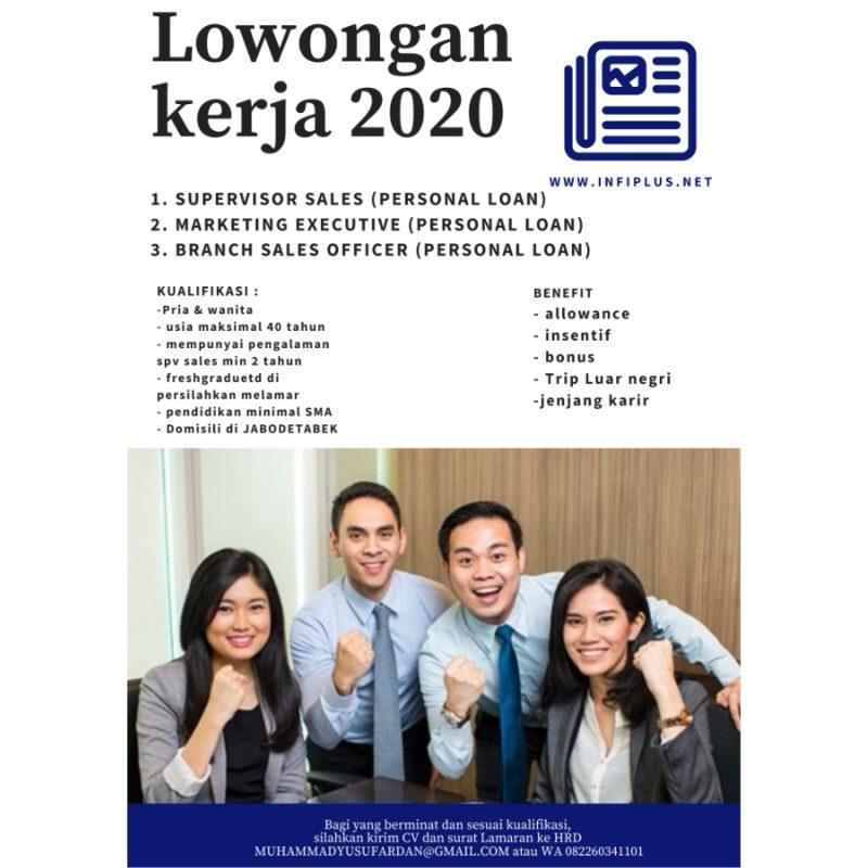 Lowongan Kerja Supervisor Marketing Sales Di Pt Infinity Plus Solution Jakartakerja