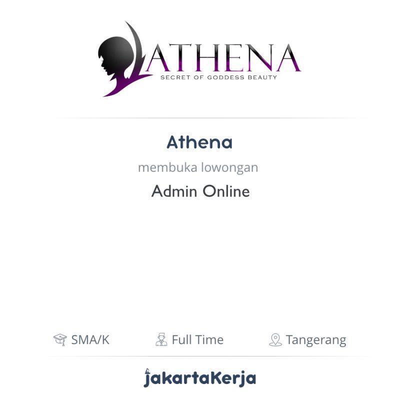 Lowongan Kerja Admin Online Di Athena Jakartakerja