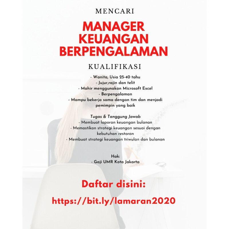 Lowongan Kerja Manajer Keuangan Restoran Di Yoisho Ramen Jakartakerja