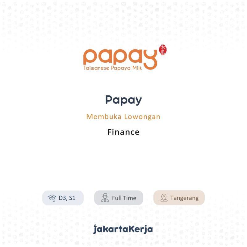 Lowongan Kerja Finance di Papay - JakartaKerja